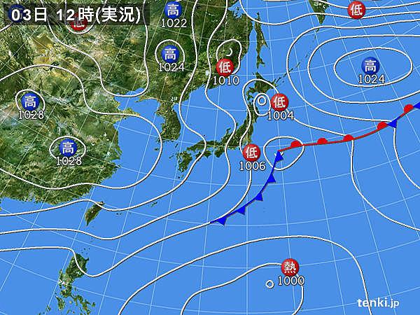 11月3日12時の天気図