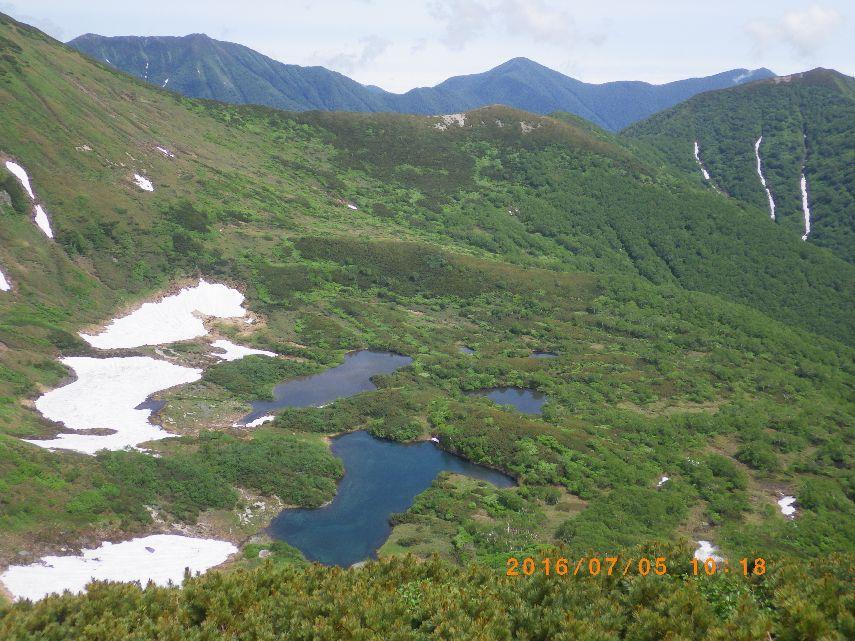 七ツ沼カールと1967峰