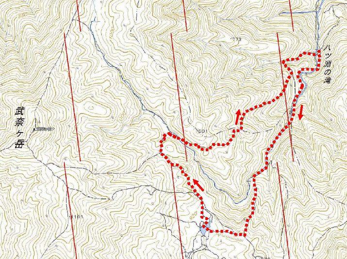 八淵ノ滝地図