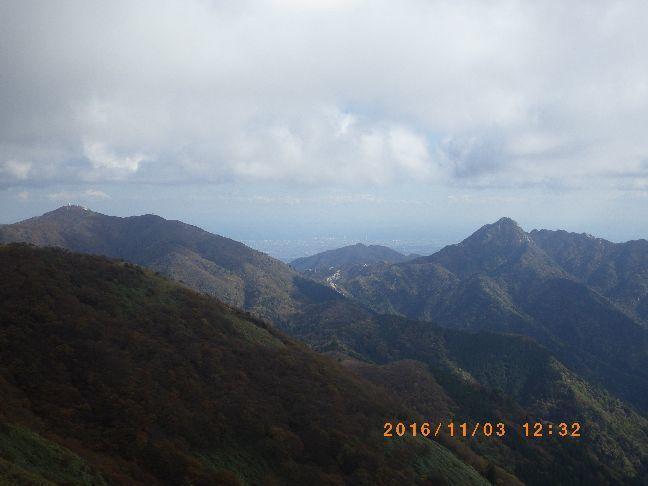 鎌ヶ岳が見えた図