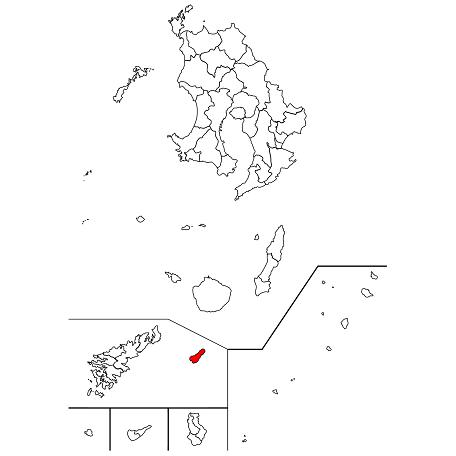 鹿児島県大島郡喜界町の位置