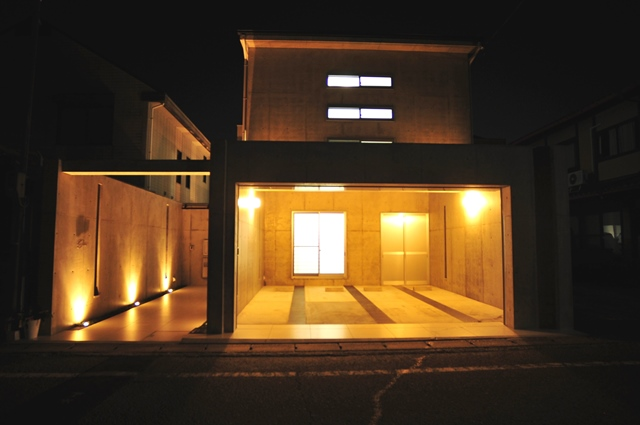 注文住宅 デザイナーズ住宅 京都 ライトアップ1
