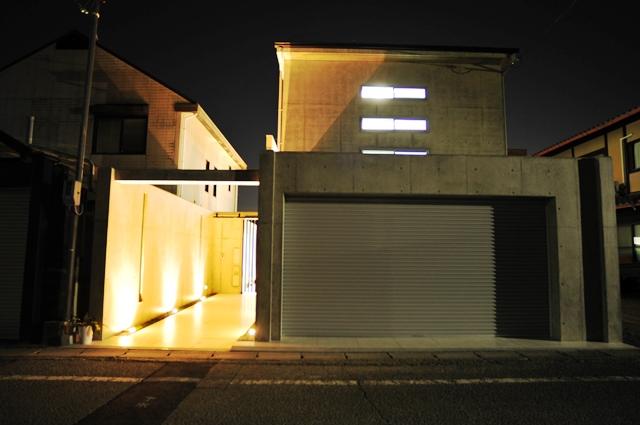 注文住宅,京都市北区,光のこぼれる外観