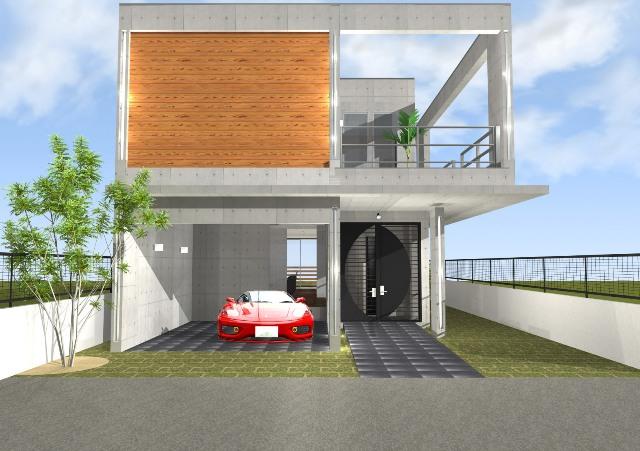 鉄筋コンクリート造 RC造2階建て ガレージハウス