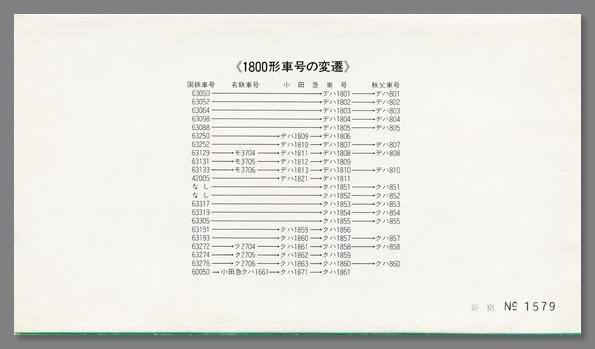 さようなら1800形記念乗車券ケース裏紙