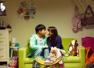 吉田恵輔 『ヒメアノ~ル』 岡田(濱田岳)はユカ(佐津川愛美)と仲良くなって……。何だかとても初々しい。