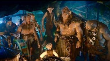 『BFG:ビッグ・フレンドリー・ジャイアント』 中央のチビがBFG。ほかの巨人はかなりデカくてなかなか個性豊か。
