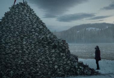 『レヴェナント:蘇えりし者』 バッフォローの骨の山が……。自然光を使った撮影が見事。