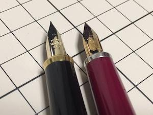 14Kスタンダードとセレモのペン先
