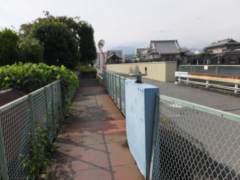 干無川を渡る昭和用水路