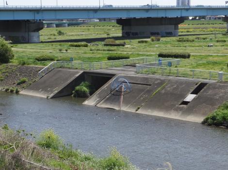 野川浄化施設・ゴム引布製起伏堰