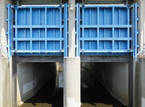 玉川排水樋管・谷沢川
