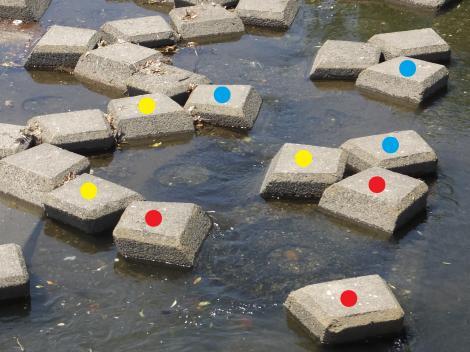 床固ブロック・谷沢川河口