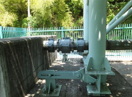簀の子橋水管橋