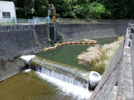 三沢川の農業用水取水施設