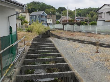 旧三沢川の分水