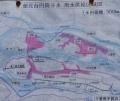 湖北台円筒分水・用水供給区域図