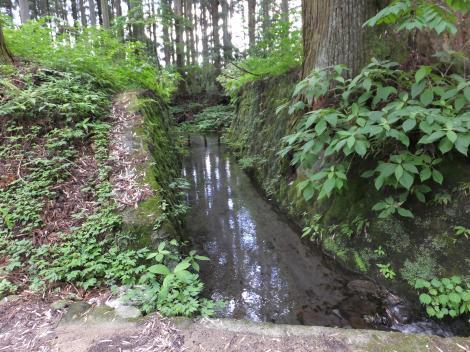 下瀬川分水井から始まる用水路