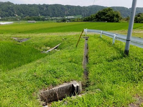 徳島堰の支線用水路