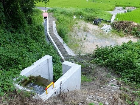 徳島堰から支線用水路へ分水