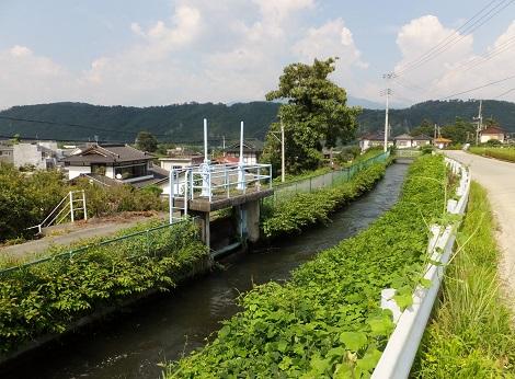 徳島堰・桐沢右岸への排水門