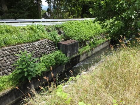 徳島堰の分水施設・白沢橋下流