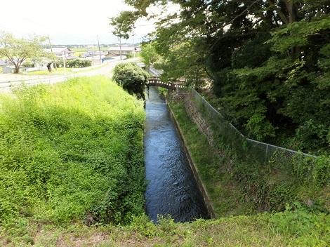 大門沢右岸より徳島堰下流を望む