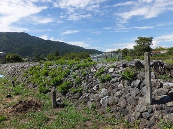 桝形堤防の遺構