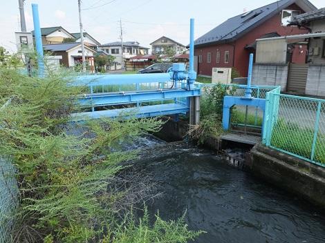長野堰・取水堰と分水門