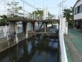 長野堰の取水堰・諏訪神社付近