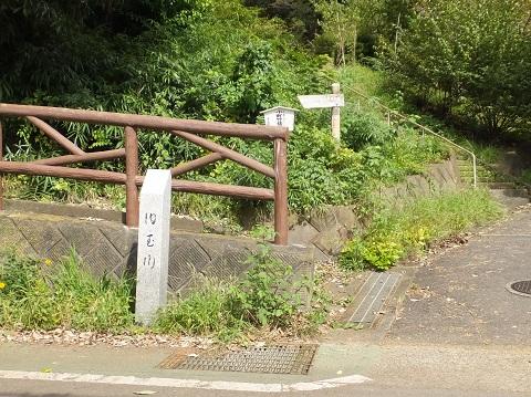 旧玉川河道跡・小町神社入口