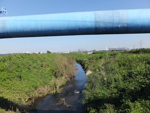 北野橋より笠張川上流を望む