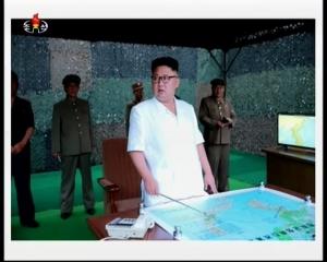 20160720 경애하는 김정은동지께서 조선인민군 전략군 화성포병부대들의 탄도로케트발사훈련을 지도하시였다mp4_000131120
