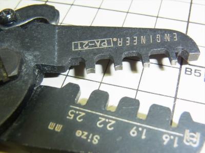 ENGINEER PA-21 精密圧着ペンチエンジニア ピン 日圧 XH NH VH PA Molex ニューミニフィット AMPユニバーサルメイテンロック