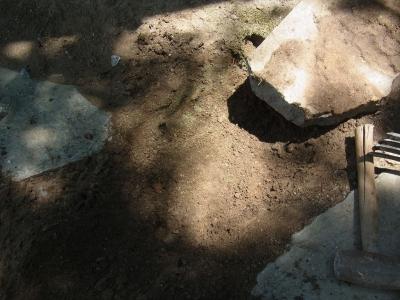 敷石 飛び石 庭 ぐらつき 固定 転圧 砂利 コンクリート 破片