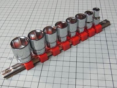 SK11(エスケー11) ソケットセット 差込角 9.5mm (3/8インチ) 8・10・12・13・14・15・17・19mm SHS308M 藤原産業 SSH308N ワンタッチソケットホルダー