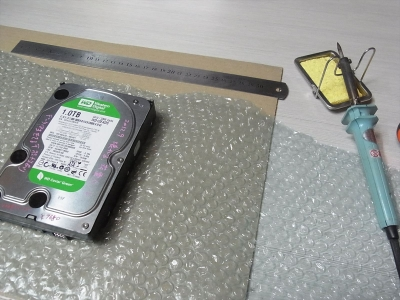 HDD 収納 はがきケース プチプチ 緩衝材 密封 パッキン 袋 乾燥剤 シリカゲル 自作 PC