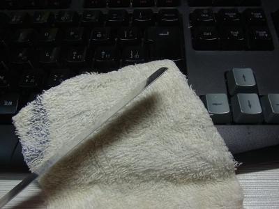 keyboard メンテナンス ロジクール Logicool G105 掃除 エアダスター めん棒 時短