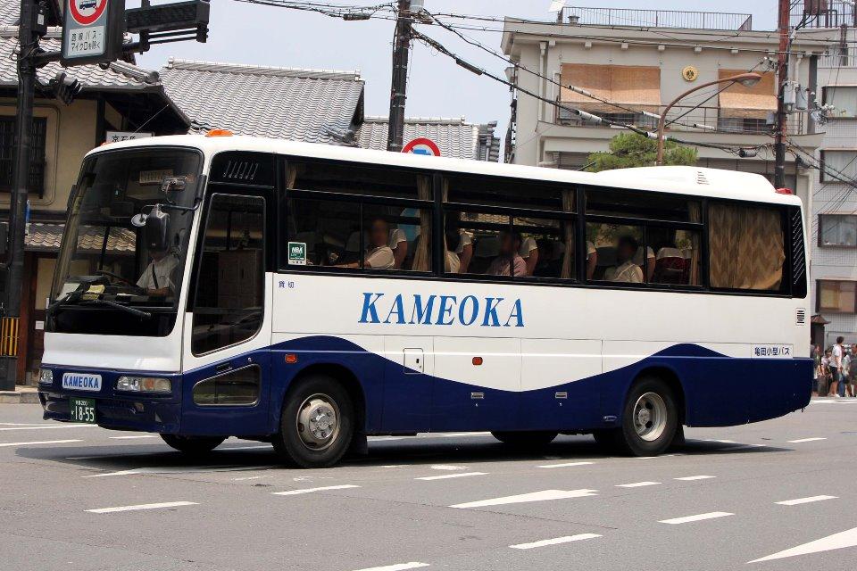 亀岡小型バス か1855