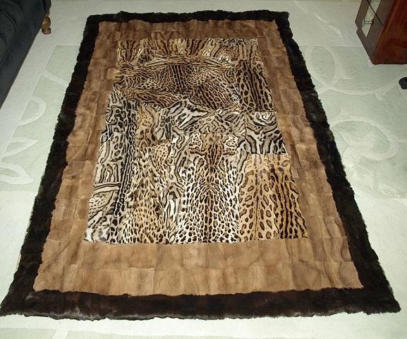 山猫 毛皮 毛布