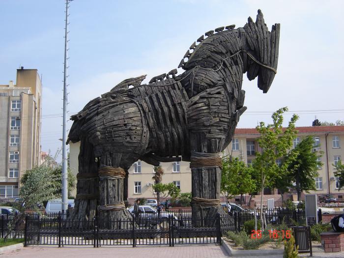 bx Trojan horse トロイの木馬1