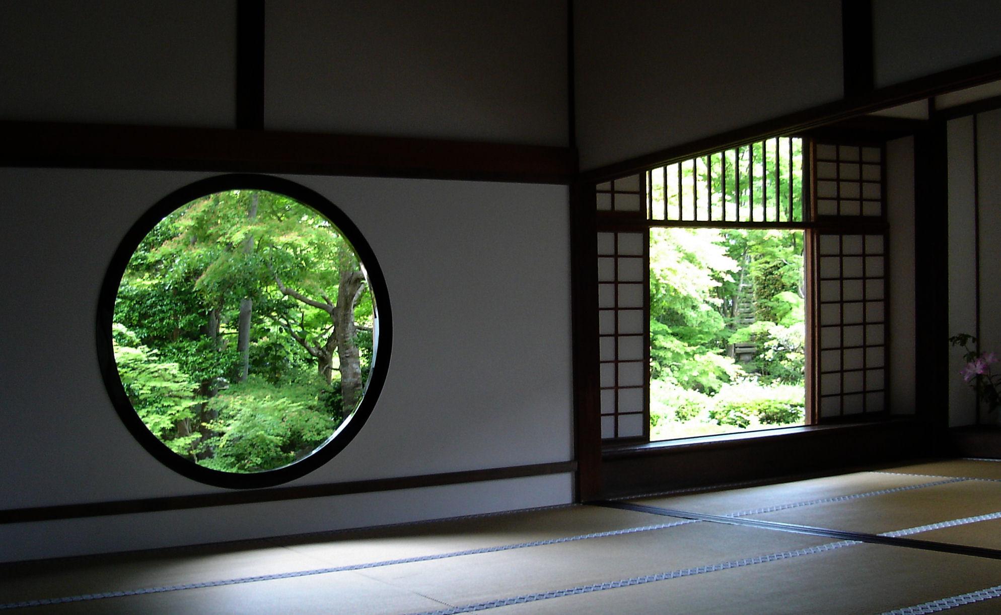 km 格子窓 日本家屋と庭園1