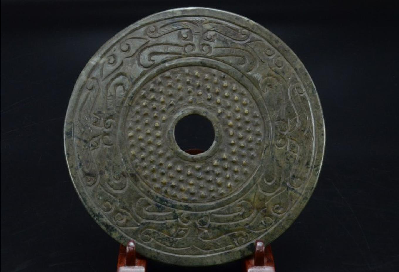 zh 玉石彫刻b-5 鏡 剣 玉器 玉珮