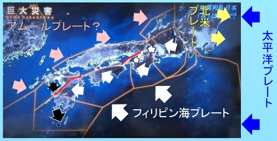 西日本のプレートの動き