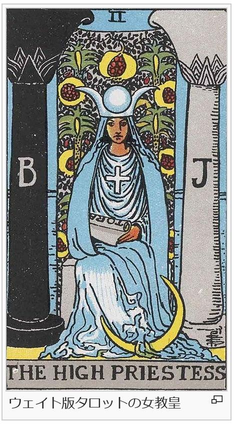 ウエイト版タロットの女教皇