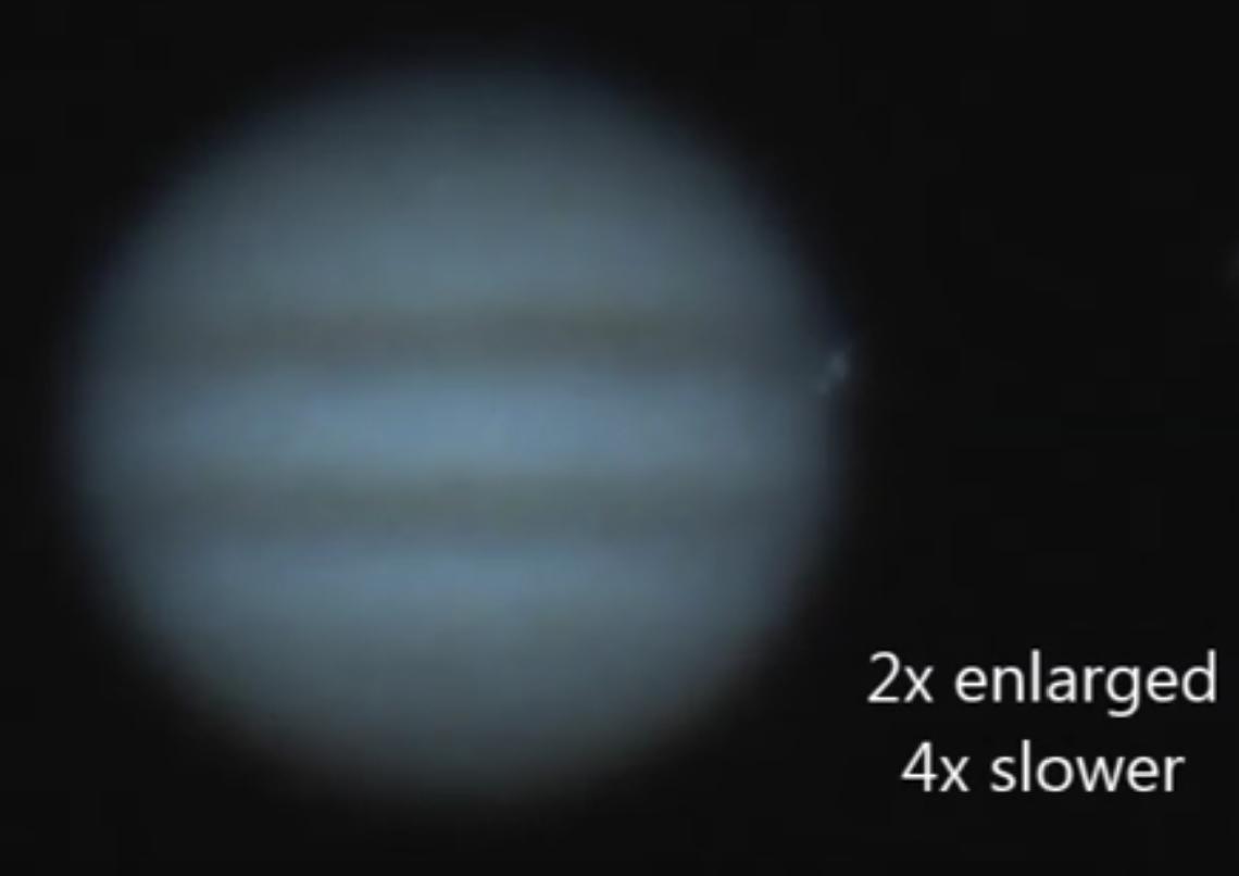 木星に天体衝突