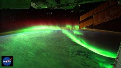 ISSからみたオーロラ