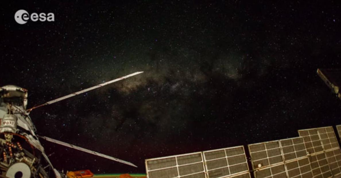 ISSから見た天の川