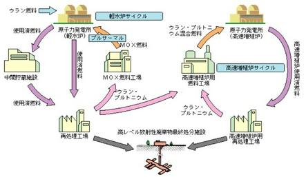 軽水炉サイクルと高速増殖炉サイクル