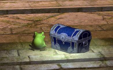 カエルと宝箱
